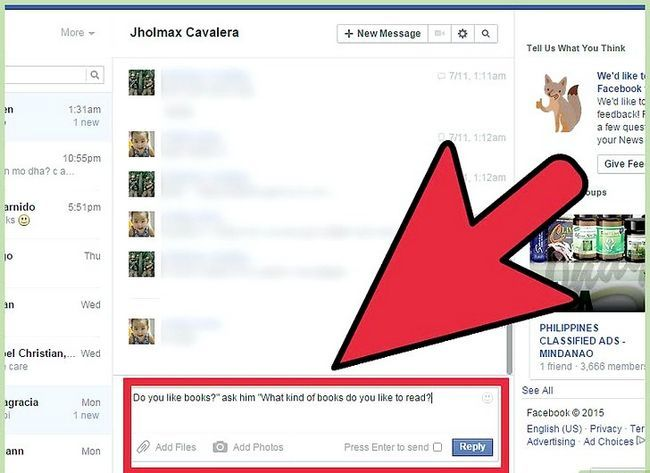 Imagen titulada Start a Conversation with a Guy on Facebook Step 11