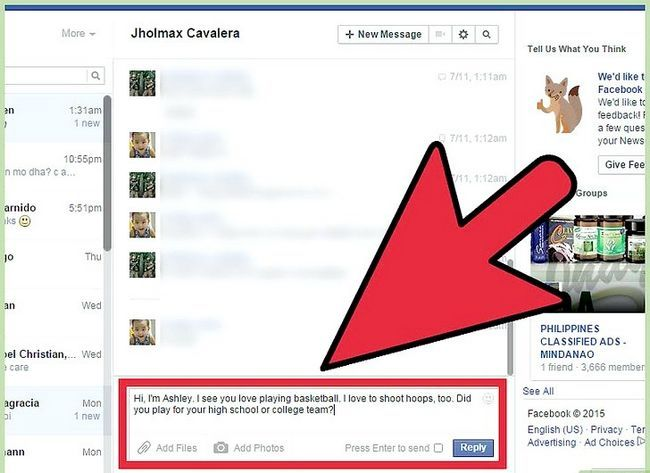 Imagen titulada Start a Conversation with a Guy on Facebook Step 12