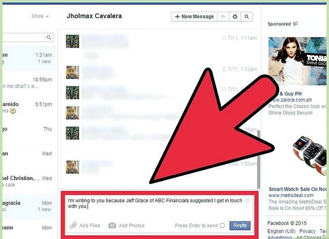 Imagen titulada Start a Conversation with a Guy on Facebook Step 15