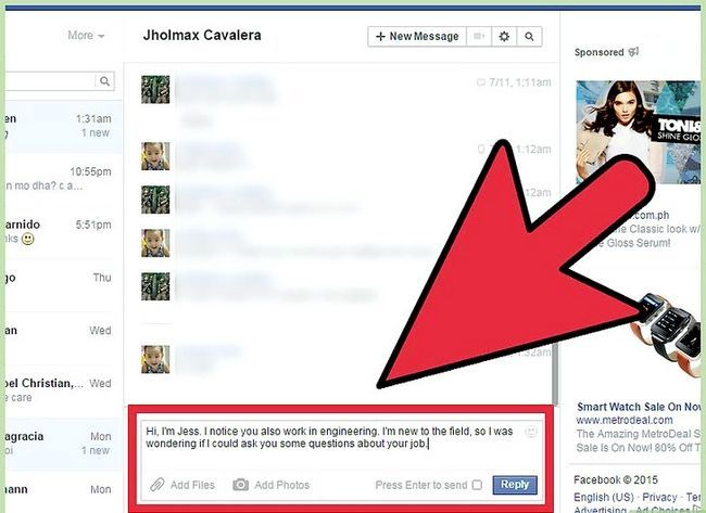 Imagen titulada Start a Conversation with a Guy on Facebook Step 16