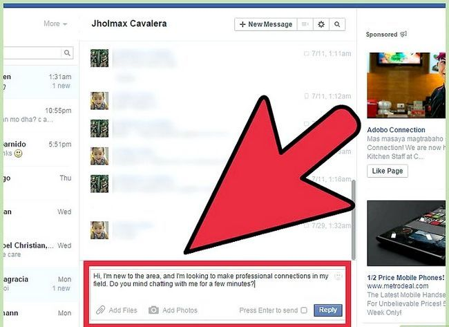 Imagen titulada Start a Conversation with a Guy on Facebook Step 18
