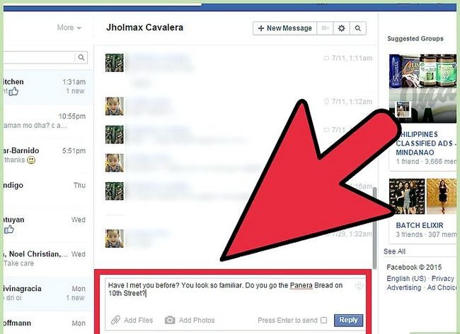 Imagen titulada Start a Conversation with a Guy on Facebook Step 4