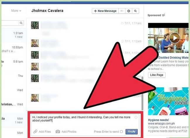 Imagen titulada Start a Conversation with a Guy on Facebook Step 10